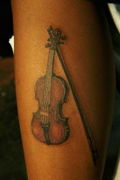 """The Violin.the most human of all instruments. Music Tattoos, Love Tattoos, Small Tattoos, Tatoos, Violin Tattoo, Cute Tats, Violin Bow, Nail Tattoo, Chanel Jewelry"