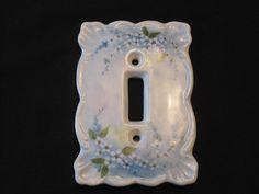 Switch Plate Single Porcelain Hand Painted by VeryVintageVera, $12.00