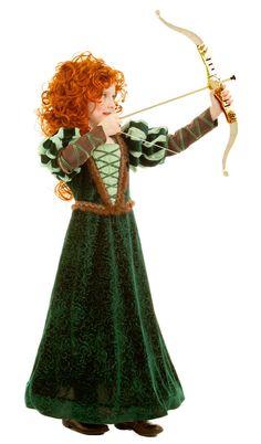 Forest Princess Merida Brave Costume Dress Child Girls 3T 3 4T 4 5 6 7 8 9 10 #PrincessParadise #Dress
