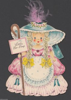 Vintage Doll Greeting Card Land of Make Believe Little Bo Peep | eBay