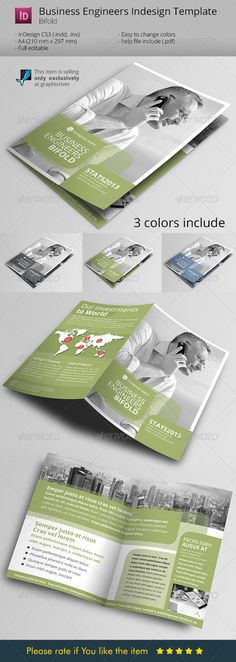 Download this template - only 8$ http://graphicriver.net/item/green-light-to-business-indesign-template/6133342 Green Light to Business Indesign Template
