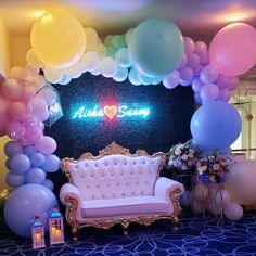 Princess Birthday Party Decorations, Birthday Centerpieces, Birthday Parties, Personalized Balloons, Custom Neon Signs, Baby Shower Balloons, Backdrops For Parties, Party Signs, Balloon Decorations