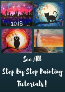 Learn how to paint at home with these free and easy self guided step by step painting tutorials! Learn with pictures and a simple video. Step by Step Painting is an ever growing collection of acrylic canvas tutorials designed for beginners and developed by artist Tracie Kiernan.