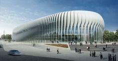 Architecture in Africa Concept Architecture, Futuristic Architecture, Facade Architecture, Zaha Hadid Design, Zaha Hadid Architektur, Mall Design, Facade Design, Parcs, Modern Buildings