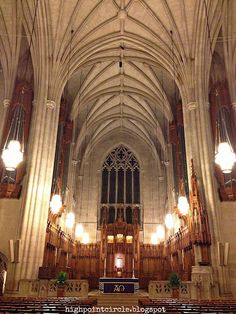 Duke University Chapel ~ one of the most beautiful I have ever been in!