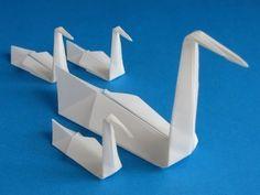 Origami Swan Folding Instructions - How to fold an Origami Swan - Modelo Tradicional postado por Isa Klein para o WOD 2014