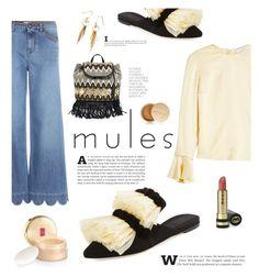 """Mules"" by susli4ek ❤ liked on Polyvore featuring Sanayi 313, RED Valentino, Roksanda, Rebecca Minkoff, Jane Iredale, Gucci and Elizabeth Arden"