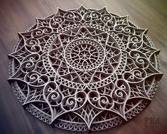 Laser Cut DXF Mandala file Mandala Dxf file for CNC router Diy Cnc Router, Cnc Router Machine, Router Woodworking, Woodworking Projects, Scroll Saw Patterns, Wood Patterns, Laser Cut Lamps, Lotus Flower Mandala, Router Projects
