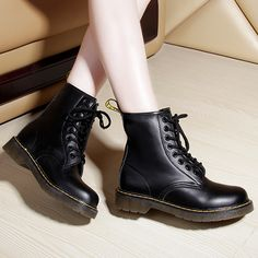 Cheap boots onsale, Buy Quality boots knee directly from China boot rack Suppliers: Leather Winter Boots Shoes 2014 Fashion Warm Snow Shoes Outdoor Martin Black Boots Botas Masculinas leather boots Doc Martens Boots, Dr. Martens, Cute Shoes, Me Too Shoes, Sneakers Fashion, Fashion Shoes, Fringe Ankle Boots, Shoe Boots, Women's Boots