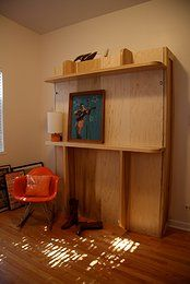 DIY Murphy Bed called The Lori Bed this site has downloadable plans and starter kits-how DIY do you wanna go!