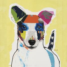 Dog Art of Jack Russell Terrier on Canvas Print