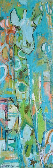 Angela Anderson Art Blog: Freestyle Giraffes - Kid's Art Class