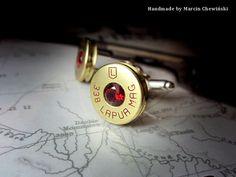 Spinki kal. 338 Lapua Mag. z kamykiem Granat