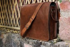 b27f51ecf6 Bag Leather Genuine Laptop Messenger Men Briefcase S Vintage Satchel  Shoulder  fashion  clothing