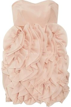Notte by Marchesa Ruffled Skirt Strapless Dress US 8 NWOT $860 #MarchesaNotte #Cocktail