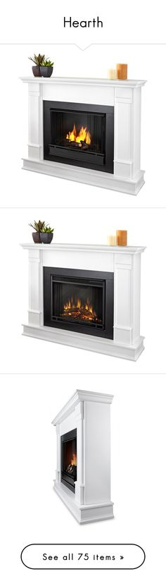 """""""Hearth"""" by dreamgirldesign ❤ liked on Polyvore featuring home, home decor, fireplace accessories, fireplace, white home decor, fire-place screen, white fireplace screen, fire screen, fireplaces and white electric fireplace"""