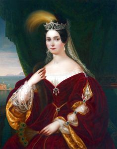 Portrait of Maria Theresa of Austria, Queen of the Two Sicilies by Francesco Torr, 1837