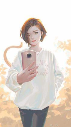 Selfie Girl iPhone Wallpaper - iPhone Wallpapers