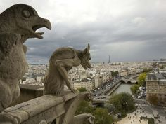 "Perched atop Notre Dame Cathedral's North Tower, the storied Gothic gargoyles loom over Paris from their unique vantage point above point zéro, the site from which distances to the rest of France are measured. ""Climbing the tower is an incredible thing to do,"" says photographer Catherine Karnow. ""The views in every direction are amazing."""