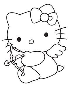 hello kitty s valentines day coloring pages printable and coloring book to print for free. Find more coloring pages online for kids and adults of hello kitty s valentines day coloring pages to print. Hello Kitty Colouring Pages, Dog Coloring Page, Cartoon Coloring Pages, Disney Coloring Pages, Coloring Pages For Kids, Coloring Books, Coloring Sheets, Kids Coloring, Printable Valentines Coloring Pages