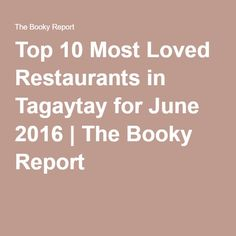 It's you MUST do your Baguio food trip! Check out the top 10 most loved restaurants this month in Baguio, based on user favorites from Booky, the # Tagaytay, Baguio, Restaurants, November, Tops, November Born, Restaurant