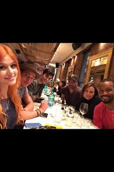 Our Shadowhunters cast • Katherine McNamara as Clary Fray • Dominic Sherwood as Jace • Matthew Daddario as Alec • Maxim Roy as Jocelyn • Isaiah Mustafa as Luke • Alan Van Sprang as Valentine #Shadowhunters