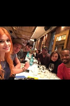 Dinner with the cast <3