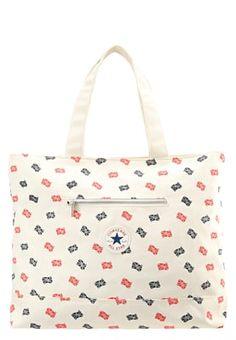 Shopping Bag - natural/navy/red