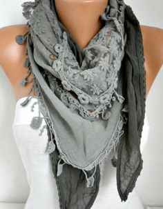 Sage Green Ombre Scarf Oversize Scarf Fall Winter by fatwoman