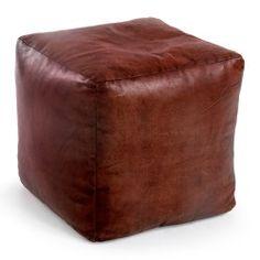 Reposapies vintage liso, color: marrón