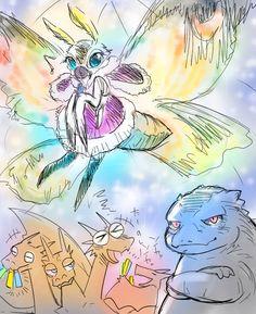 Godzilla Franchise, Godzilla Comics, Aliens, Original Godzilla, Black Pug Puppies, Alien Vs Predator, Pokemon Comics, Anime Meme, King Kong
