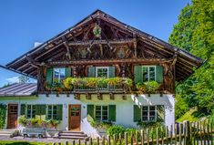 Typical Bavarian house, Ammer Mountains jigsaw puzzle in Street View puzzles on TheJigsawPuzzles.com