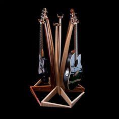 Stylish Birds Eye Maple Guitar Stand by Feneg on Etsy