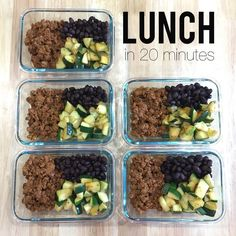21 day fix meal prep. Week of lunches. Turkey taco, beans and zucchini. See my FB page for more. https://m.facebook.com/heatherldellimuti/