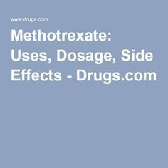 Common Side Effects Of Methotrexate Injection