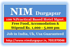 NIM Durgapur Require Promotion & Revenue exe. If you are Presentable female with one yr. experience in the same job, you are the right Candidate. Task - Follow Promotional terms & Conditions  Compensation - Rs 15,000/- pm  Contact - www.nimdurgapur.in, Mb - 7031970046. Only Hard Core Professionals Contact