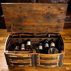 Wine Enthusiast - Wine Accessories, Wine Storage and Wine Gifts Wine Barrel Furniture, Pallet Furniture, Wood Barrel Ideas, Wine Barrel Crafts, Rustic Fireplace Mantels, Barrel Coffee Table, Barrel Projects, Bourbon Barrel, Tasting Room