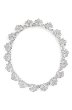Nadri Scalloped Crystal Necklace #wedding