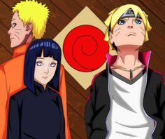 Hinata Hyuga,Boruto Uzumaki, and Naruto Uzumaki