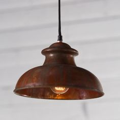 Kalalou Antique Rustic Pendant - The Kalalou Pendant Antique Rustic is the perfect light that adds an eclectic design that reflects light and personality at the same time. This metal pendant lamp features a beautiful variegated copper finish that shines with copious amounts of light with the help of one 40-watt medium base bulb (not included).