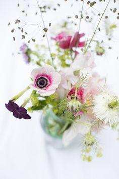 Anemone, Table arrangement, A.P Bloem, Florist, Amsterdam, Flowers, www.apbloem.nl