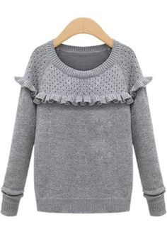 http://www.cichic.com/grey-plain-ruffle-hollow-out-pullover.html