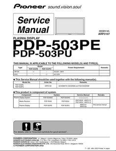 Pioneer Pdp 435pe инструкция - фото 6