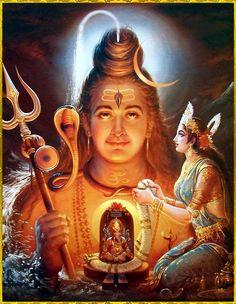 Shiva Parvati Images, Shiva Hindu, Durga Images, Shiva Shakti, Hindu Deities, Hindu Art, Lord Shiva Pics, Lord Shiva Hd Images, Lord Shiva Family