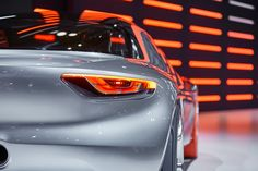 Opel debuted the GT Concept at the 2016 Geneva Motor Show. This stunning, super-lightweight coupé combines gorgeously futuristic design (from the tiny front and rear overhangs shifting focus to the two-seat cockpit, to the hot red tires on the front wheels) with styling cues harking back to classic Opels of the past. Geneva Motor Show, Futuristic Design, Motors, Two By Two, The Past, Wheels, Concept, Cars, Classic