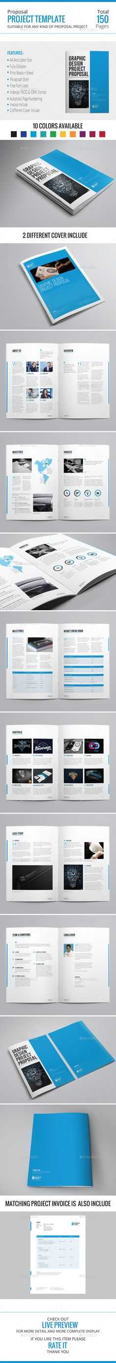 Professional Proposal Template Adobe photoshop, Fonts and Stationery - microsoft word proposal templates