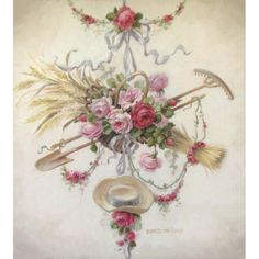 Christie Repasy L'amour de Jardin Canvas Giclee $150.00 #thebellacottage #homedecor