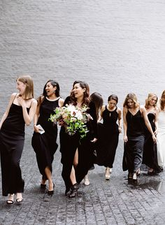 A Dark & Moody Wedding Like You've Never Seen Bridesmaid Tips, Bridesmaid Dress Styles, Wedding Bridesmaids, Mod Wedding, Wedding Gowns, Dream Wedding, Fall Wedding, Bride Photography, Best Wedding Photographers