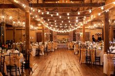 Market lighting for rustic barn reception! Love this!