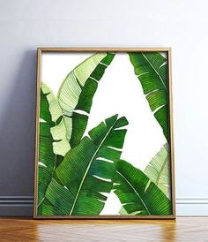 Banana Leaf Poster PRINTABLE FILE palm art palm by Dantell